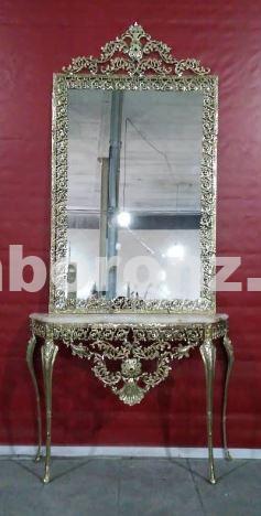 آینه کنسول برنزی مدل یاس