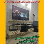 میز تلویزیون برنزی ۲ کشو مدل ملائکه سفارشی ساز