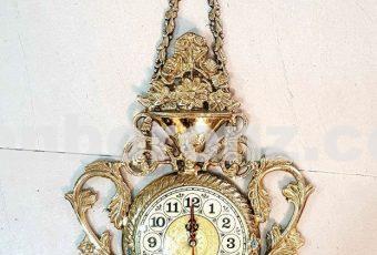 ساعت دیواری برنزی مدل آویز
