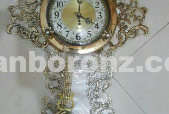 ساعت دیواری برنزی مدل پاندول دار