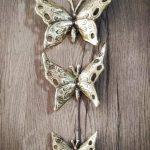 پروانه دیوارکوب برنزی مدل ریخته گری