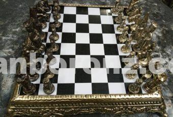 شطرنج رومیزی برنزی مدل کلاسیک