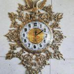 ساعت دیواری برنزی لوزی مدل عقاب