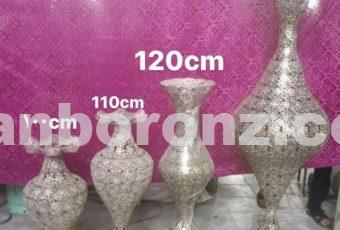 گلدان برنجی توری سلطنتی در 4 سایز مختلف