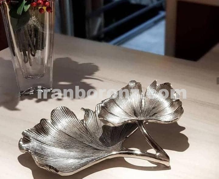 ست پذیرایی گل مرداب دو طبقه رنگ سیلور